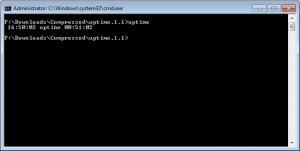 uptime Windows 7