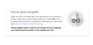 incognito in Google Chrome