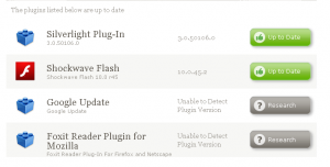 check status of browsers plugins