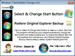 Win7 Start button changer