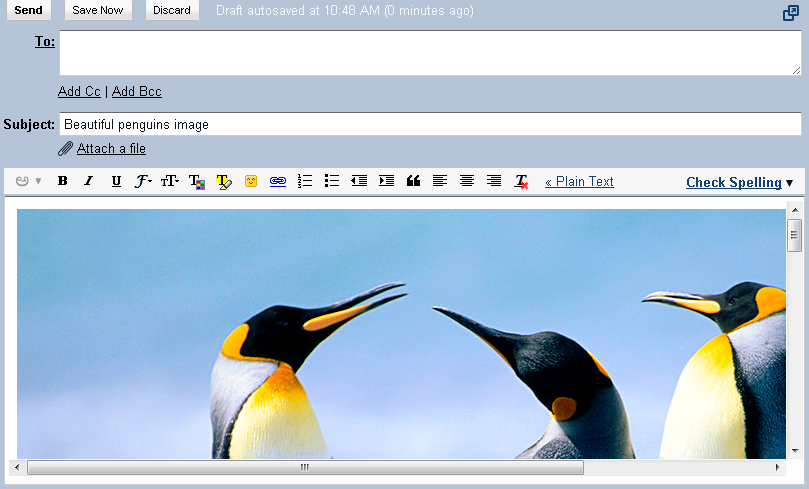 Gmail now allows to drag Images into Messages