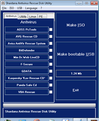 shardana antivirus rescue disk utility
