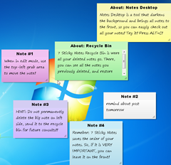 7 Sticky Notes \u2013 Free Windows 7 Sticky Notes Application for Your