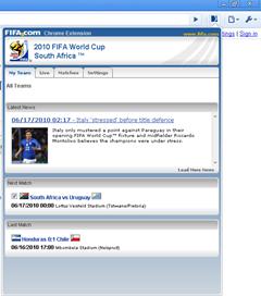 FIFA.com chrome extension