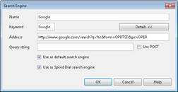 Google speed dial search engine