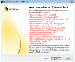 Norton removal tool 2011