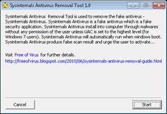 Sysinternals antivirus removal tool