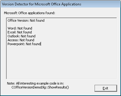 Version Detector for Microsoft Office Applications