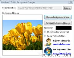 Windows 7 Folder Background chagner