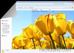 Windows 7 folder with background