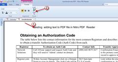 adding text to PDF file