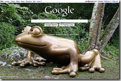 background image on Google homepage
