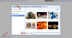 custom background image for Google homepage