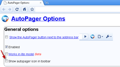 disable AutoPager icon in toolbar