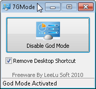 disable GodMode