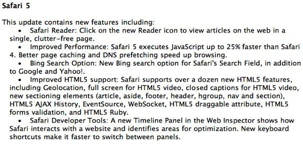 safari1006051 thumb Safari 5 with Reader and Bing Support to be released on Monday?