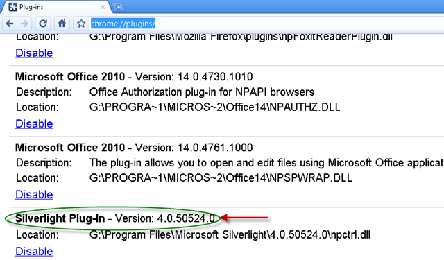 Silverlight Plugin For Chrome