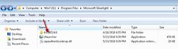 silverlight version file folder