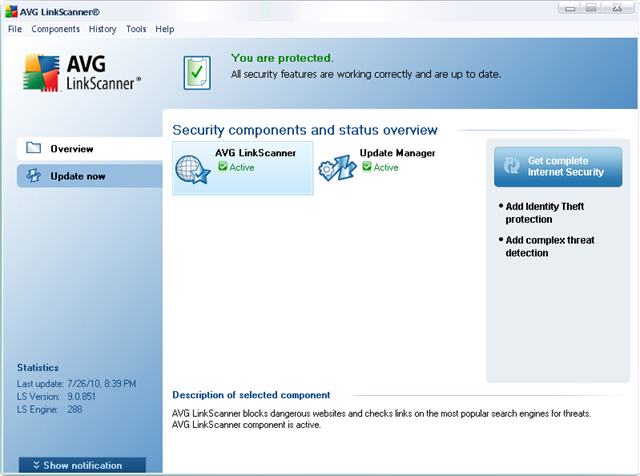 Download AVG LinkScanner Offline Installer