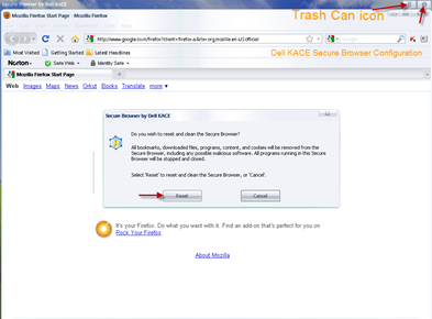 Dell KACE Secure Browser (Firefox)