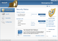 Emsisoft Emergency Kit Scanner User Interface