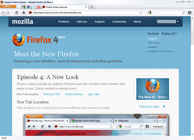 Download Firefox 4 0 Beta 2 with App Tabs Feature