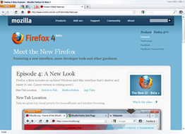 Firefox 4.0 Beta 2  with app tabs