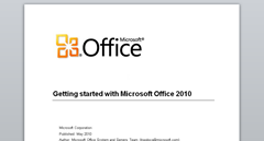 Geting started with Office 2010
