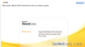 Microsoft Word 2010 interactive menu to ribbon guide