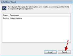 Nero 10  installshield wizard