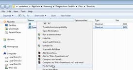 Pin pile to taskbar