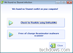 Stuxnet rootkit detection
