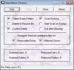 Windows 7 start menu cleaner