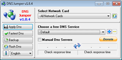 change DNS Settings easily with DNS Jumper