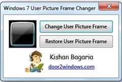 change user picture frame in Windows 7