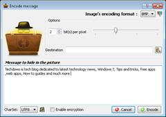 enter secret message to encode