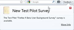 new test pilet survey