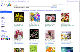 old design of Google image results