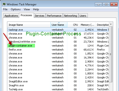 How to disable Plugin-Container exe Process of Firefox