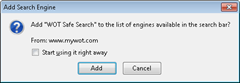 Add WOT Safe Search engine to Firefox