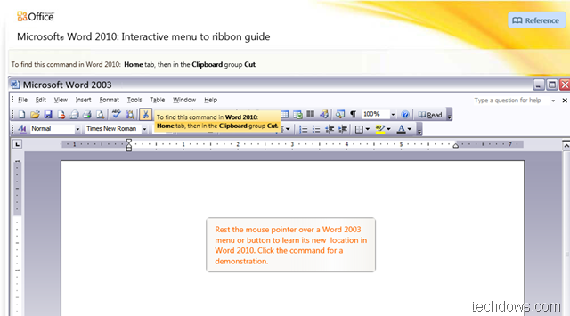 Download Interactive Guides for Office 2010 Applications