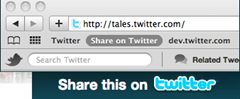 Share links on twitter with Tweet Button Bookmarklet