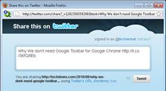 Tweet Button Bookmarklet