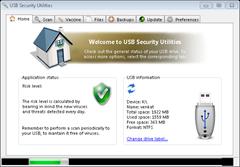 USB Security Utilities user interface