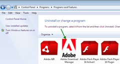 Uninstall Adobe Download Manager from Control Panel