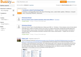 articles shared on Google Buzz or to Google reader