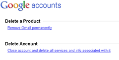 deleting Gmail or Google account permanently