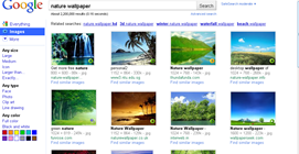 old Google image results layout in Firefox