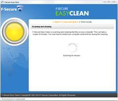 remove latest threats from PC with F-Secure Easy Clean