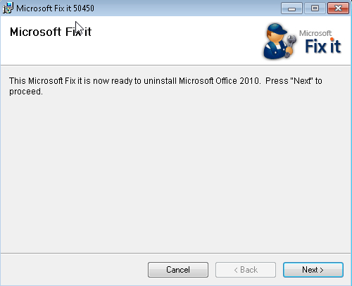 Download Microsoft Office 2010 Removal Tool